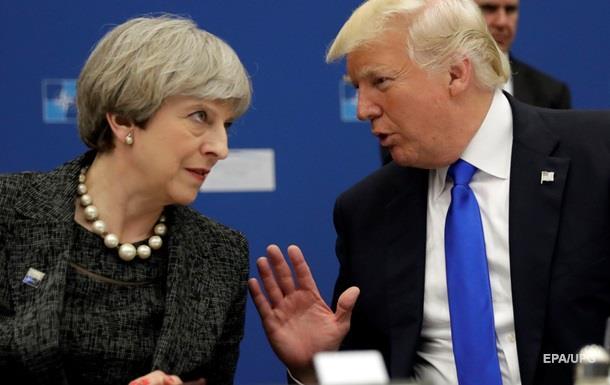 Трамп і Мей обговорили усунення шпигунських мереж РФ