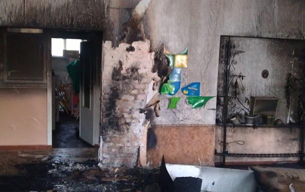 На Донеччині загорівся дитсадок: є постраждалі