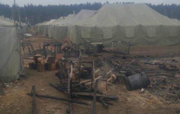 В Черниговской области горела воинская часть, пострадал солдат