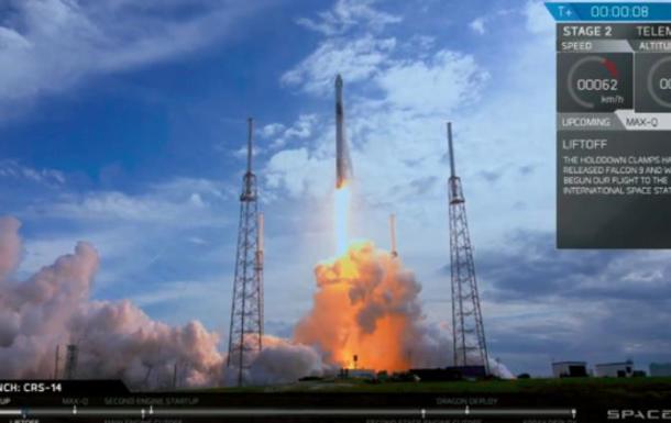 Ракета Falcon 9 с кораблем Dragon отправилась к МКС