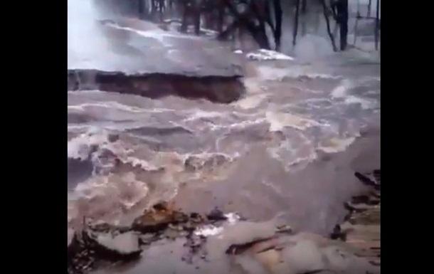 Наводнение в Ахтырке: разрушена объездная дорога