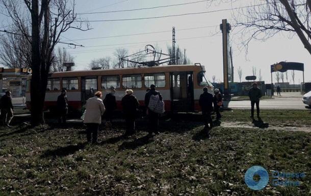 В Одесі на ходу загорівся трамвай