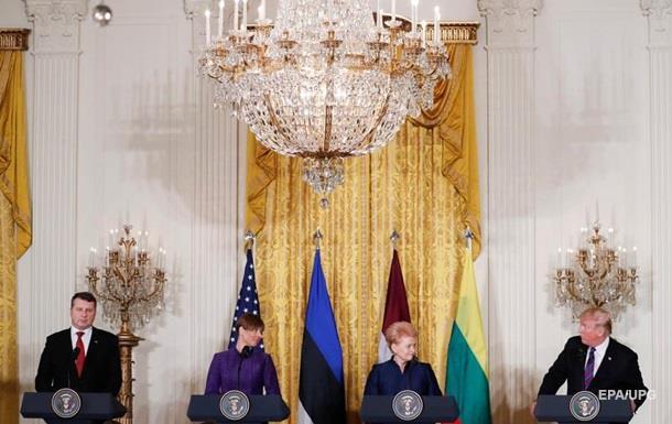 Самый жестокий с РФ. Трамп принял балтийских глав