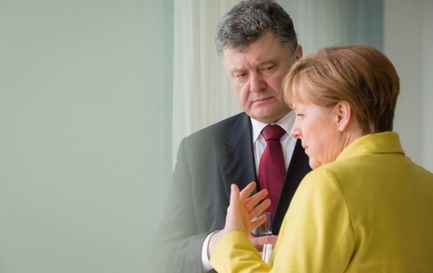 Порошенко согласует с Меркель шаги по миротворцам
