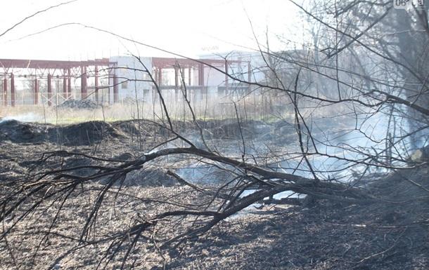 У Запоріжжі біля парку виникла пожежа