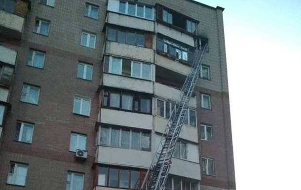 У Києві в багатоповерхівці виникла пожежа