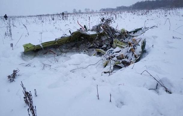У РФ на місці падіння Ан-148 знаходять частини тіл