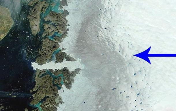 У Гренландії виявили загрозливу  темну  зону