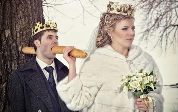 Жуткие свадебные фото напугали пользователей Сети