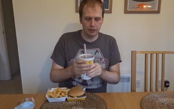Питавшийся фастфудом мужчина за неделю похудел
