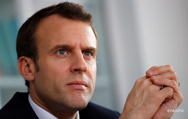 Макрон назвал цели удара по Сирии
