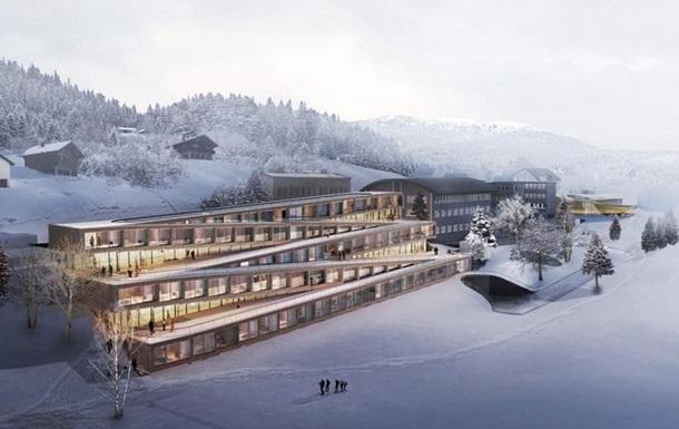 В Швеции построят отель с лыжным спуском на крыше