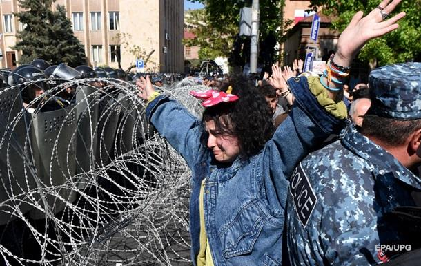 Протесты в Ереване: задержаны 84 человека