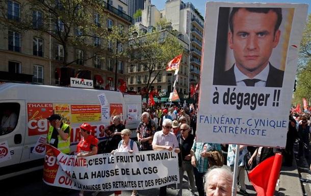 Протести у Франції: десятки тисяч демонстрували проти реформ Макрона