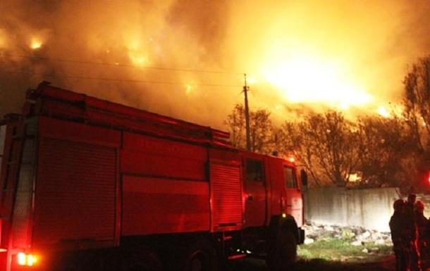 В Хмельницком произошел масштабный пожар на свалке
