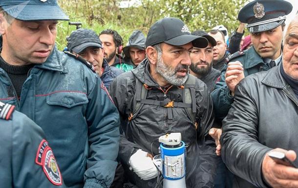 У Вірменії затримали лідера протестів