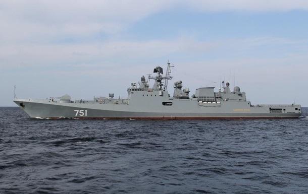 Російський флот почав навчання в Середземному морі