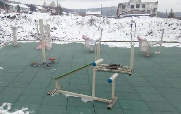 У Росії  добудували  дитячий майданчик за допомогою фотошопу