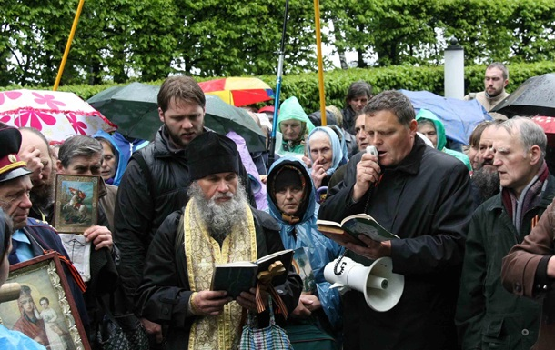 На главу Союза православных братств напали С14 за акцию против  автокефалии