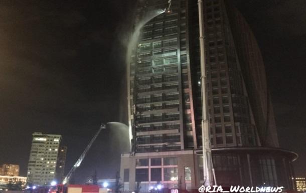 У Баку знову горить Trump Tower