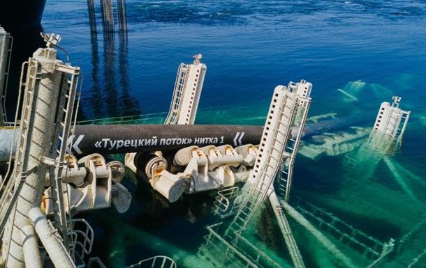 Газпром добудував першу нитку Турецького потоку