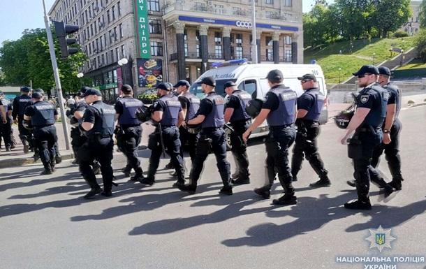 За порядком в центре Киева следят около 500 копов