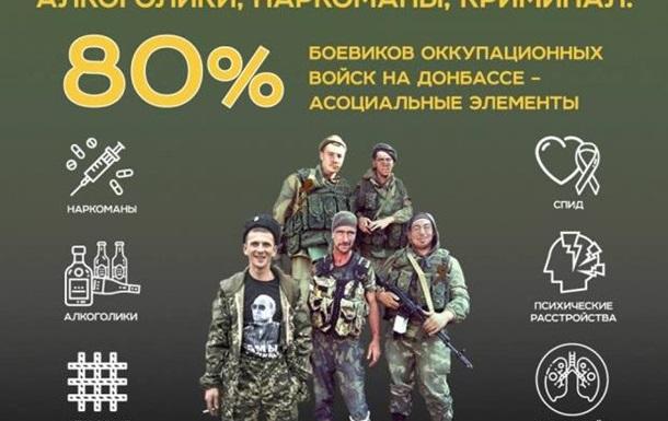 Алкоголіки, наркомани, кримінал: хто воює за окупантів на Донбасі