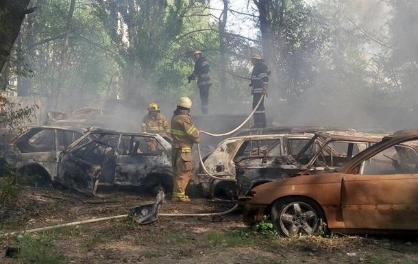 В Киеве крупный пожар на штрафплощадке