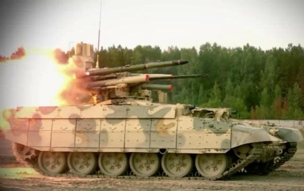 Россия показала испытания боевой машины Терминатор