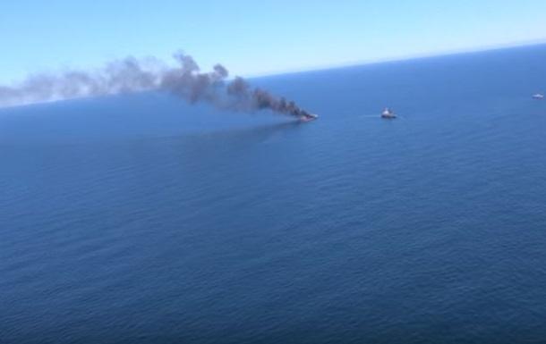 У берегов Южной Кореи загорелся танкер