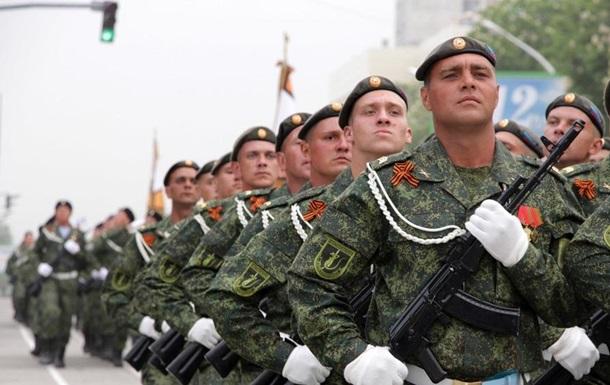 Парад 9 мая в оккупированном Луганске