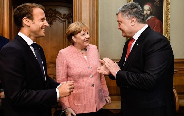 Порошенко резюмує переговори з Меркель і Макроном