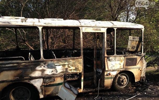 У Кривому Розі на ходу загорівся автобус