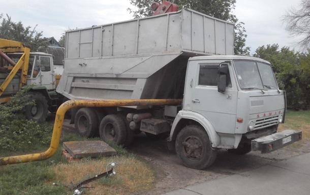 Под Харьковом грузовик врезался в газопровод