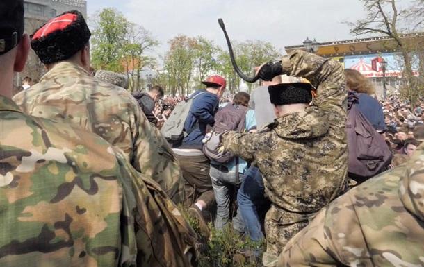 У РФ відшмагали козаків, які побили нагайками мітингувальників