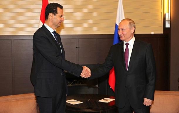 Путин встретился с главой Сирии Асадом