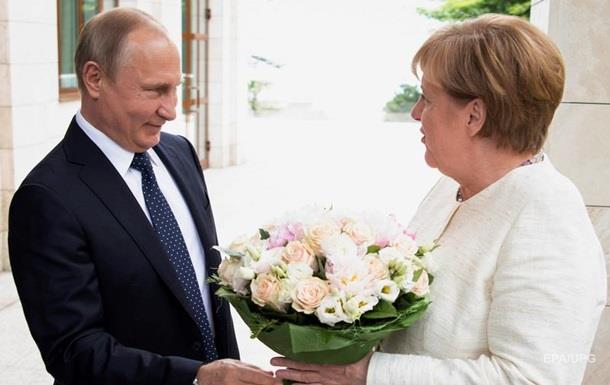 Букет Путина для Меркель СМИ назвали оскорблением