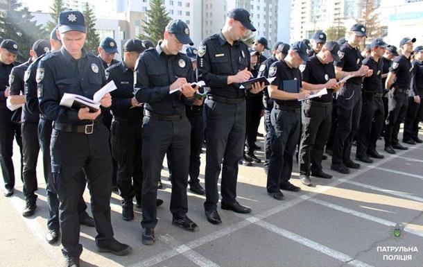 Киевские патрульные провели учения перед финалом ЛЧ