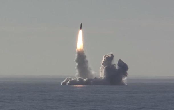 Росія провела залповий запуск ракет Булава