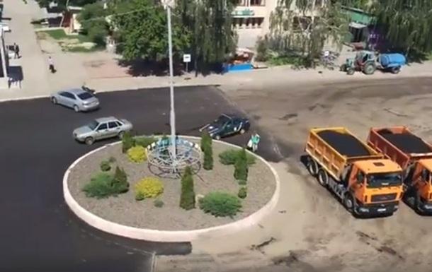 Под Киевом водитель поиздевался над полицией