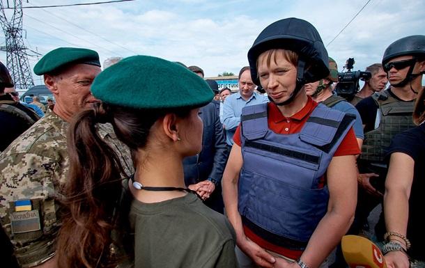 Президент Эстонии посетила пункт пропуска Майорское