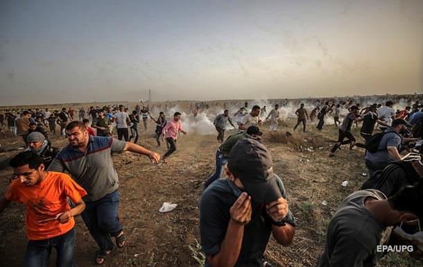 На границе Газы пострадали более 100 палестинцев