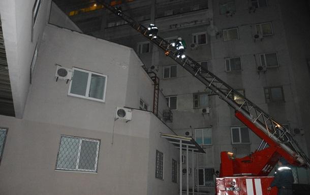 В Днепре горела больница имени Мечникова