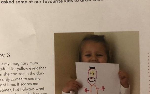 Сеть испугала нарисовавшая призрак матери девочка