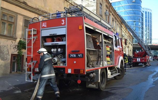 Пожар в центре Одессы: есть жертва