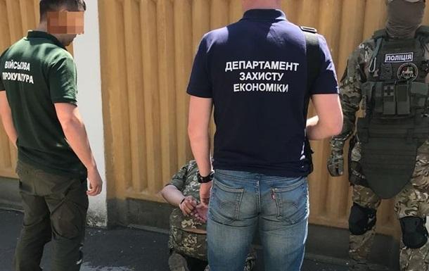 Офицера ВСУ задержали по подозрению в махинациях