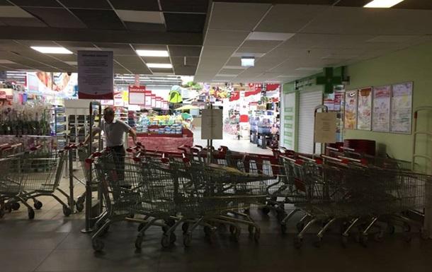В Киеве пытались захватить торговый центр