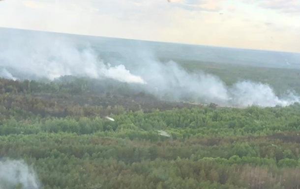 Площадь пожара в Чернобыльской зоне сократилась