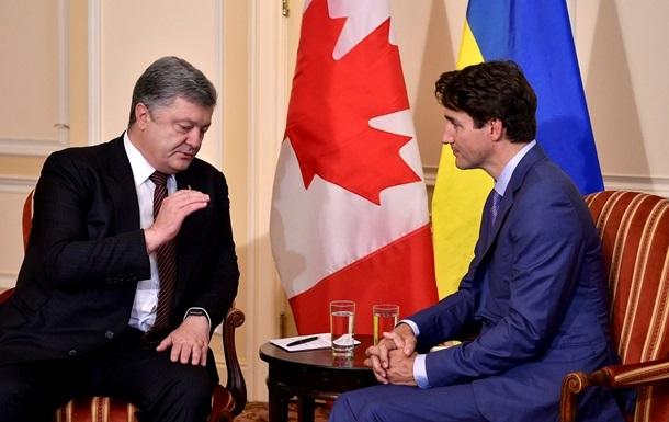 Порошенко поговорил с Трюдо перед саммитом G7