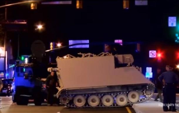 В США военный угнал броневик и пытался сбежать